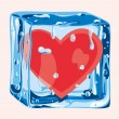 Heart in an ice cube — Stock Vector #77453292