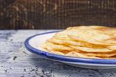 Pancakes on the ceramic plate  — Stock Photo