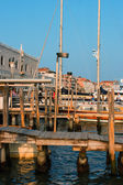 Quay at venice at the sunset — Stock Photo