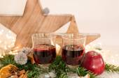 Mulled wine evening in advent — Stock Photo