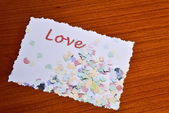 Card with Love — Stock Photo