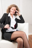 Female Manager on the phone — Stock Photo