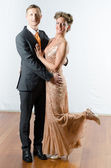 Couple at evening event — Stock Photo