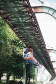 Schwebebahn in Wuppertal above the street — Stock Photo