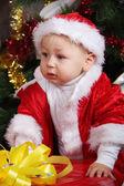 Portrait of baby Santa — Stock Photo