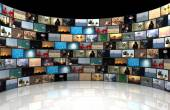 Concept of a television studio — Stock Photo