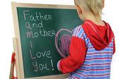 Boy and family values — Stock Photo