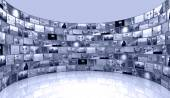 Media background - telecommunications and TV — Stock Photo