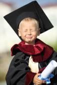 Graduate  on a background of international university — Foto de Stock