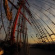 Background - sailing ship rigging — Stock Photo #59348937