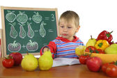 Little boy is engaged in mathematics — Stock Photo