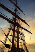 Background -  sailing ship rigging — Stock Photo