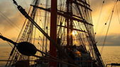 Background -  sailing ship rigging — Stock Photo