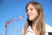 Estudiante chica hermosa — Foto de Stock
