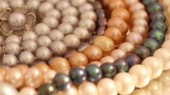 Beautiful decoration of colored pearls — Stock Photo