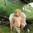 Little boy with angel wings — Stock Photo #60197749