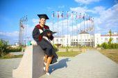 Graduate of the International University — Stock Photo