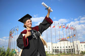 Graduate of the International University — Foto de Stock