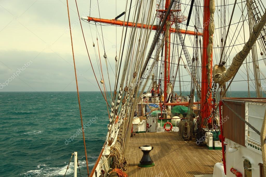 Old Sailing Ship Backg...