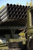 Russian rocket launchers - Grad — Stock Photo