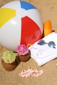 Background for relaxing on the beach — Stock Photo