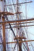Altes Segelschiff, rigging — Stockfoto