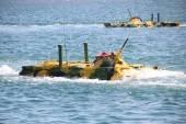 Russian amphibious landing — Stock Photo