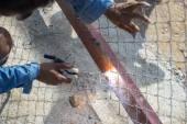 Electric welding  — Stock Photo