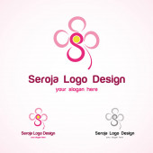 Seroja Logo Template — Stock vektor