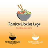 Rainbow Noodles Logo — Vector de stock