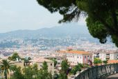 Landscape view of Nice, european city, France, riviera — Stock Photo