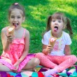 Kids girls friends children with ice cream — Stock Photo #69693049