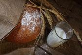 Bread round pshenichno - rye and milk — Stock Photo