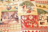 Bright fabric coverlet — Stock fotografie