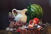 Wine, and fruit — Stock fotografie