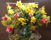 Bouquet from spring colours — Stockfoto