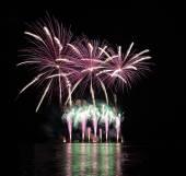 Fireworks - Ignis Brunensis in Czech republic in Brno 11.6.2014 — Stock Photo