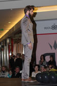Brno,Czech Republic-March 20,2015: Model walking on fashion show — Stock Photo