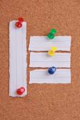 Blank Note Paper Pinned On Cork — Stock Photo
