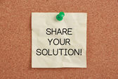 Share Your Solution — Stockfoto