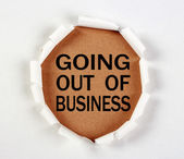 Going Out Of Business — Stock Photo