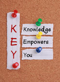Knowledge Empowers You and KEY Acronym — Stock Photo