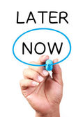 Now Or Later — Stock Photo