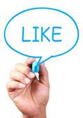 Like Speech Bubble — Stockfoto