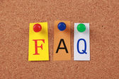 FAQ Single Word — Stock Photo