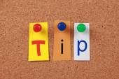 Tip Single Word — Stock Photo