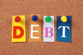 Debt Single Word — Stock Photo