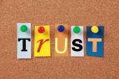 Trust Single Word — Stock Photo