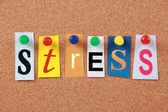 Stress Single Word — Stock Photo