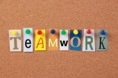 Teamwork Single Word — Stock Photo